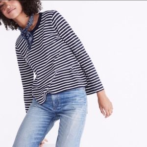 Rivet & Thread. Blue Stripes Long-sleeves Shirt.
